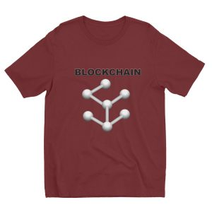 Short sleeve men's t-shirt – Blockchain logo by Jax