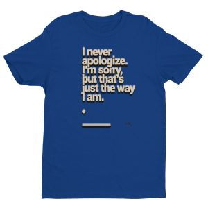 Short sleeve men's t-shirt – Apology