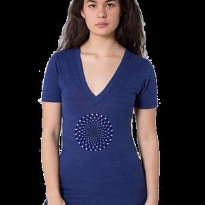 American Apparel HAI Unisex Tri-Blend Short Sleeve Deep V-Neck