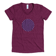 HAIamerican apparel__tri-cranberry_wrinkle front_mockup