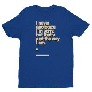Short sleeve men's t-shirt – Apology