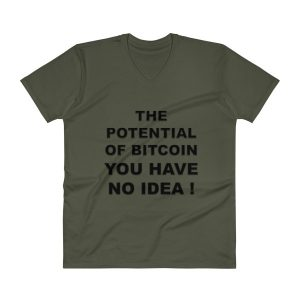 V-Neck T-Shirt – Potential of Bitcoin